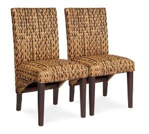 wicker seat chair